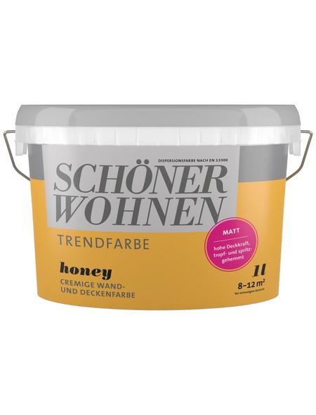 SCHÖNER WOHNEN FARBE Dispersionsfarbe »Trendfarbe«, Honey, matt