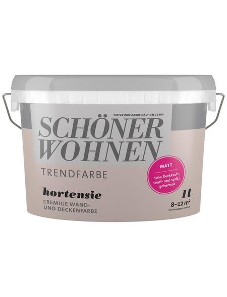 SCHÖNER WOHNEN Dispersionsfarbe »Trendfarbe«, Hortensie, matt