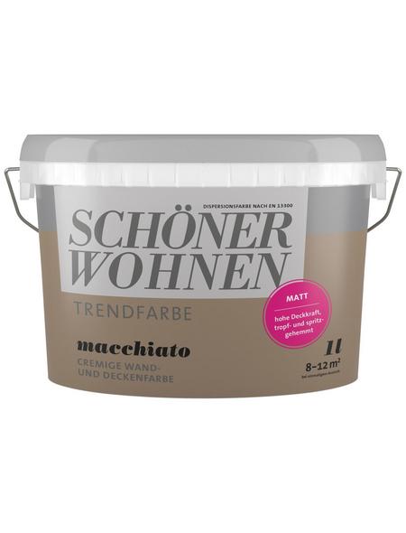 SCHÖNER WOHNEN Dispersionsfarbe »Trendfarbe«, Macchiato, matt