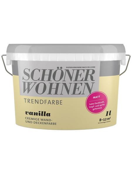 SCHÖNER WOHNEN Dispersionsfarbe »Trendfarbe«, Vanilla, matt