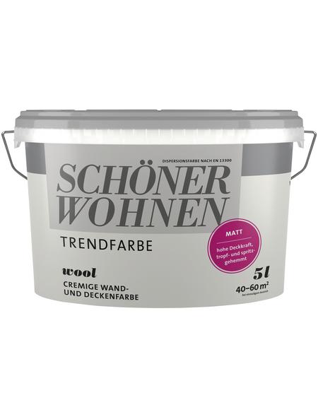 SCHÖNER WOHNEN Dispersionsfarbe »Trendfarben«, Wool, matt