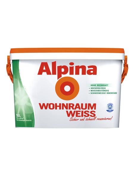 ALPINA Dispersionsfarbe »Wohnraumweiß«, Wohnraumweiß, matt