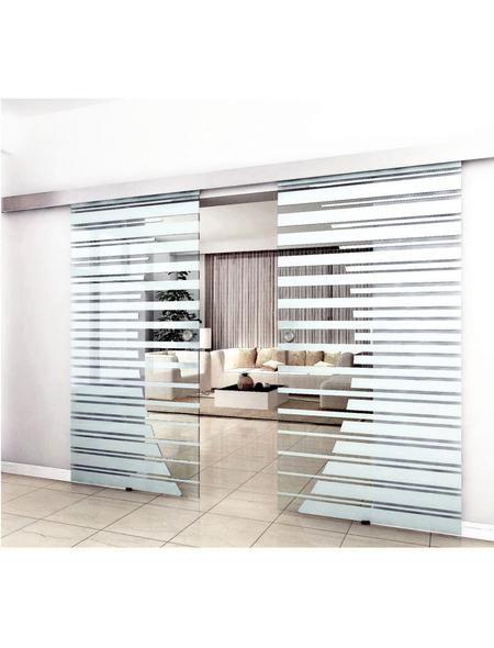 HOME DELUXE Doppel-Glasschiebetür, Anschlag: links/rechts, Höhe: 205 cm