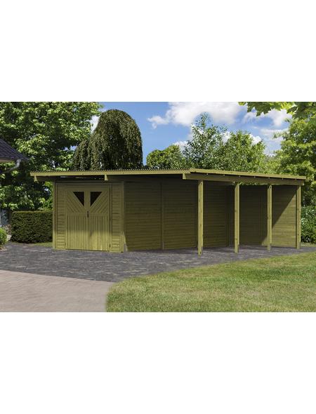 KARIBU Doppelcarport »Eco«, Außenmaß BxT: 527 x 576 cm, natur