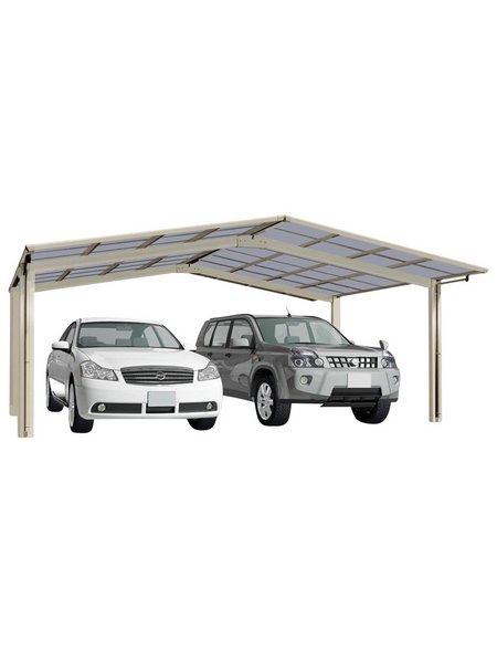 XIMAX Doppelcarport »Linea«, Außenmaß BxT: 545,6 x 495,4 cm