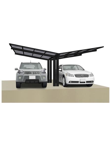 XIMAX Doppelcarport »Linea«, Außenmaß BxT: 547,6 x 495,4 cm