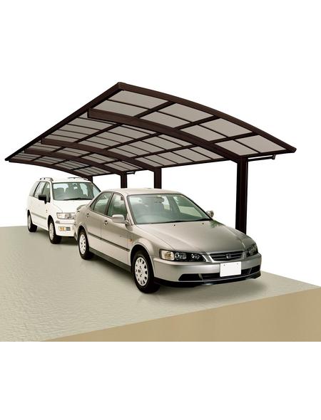 XIMAX Doppelcarport »Portoforte«, Außenmaß BxT: 270,4 x 982,6 cm, braun