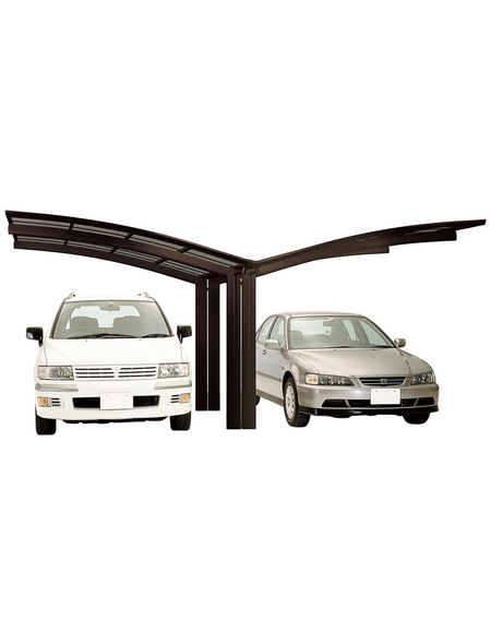 XIMAX Doppelcarport »Portoforte«, Außenmaß BxT: 543 x 495,4 cm, braun