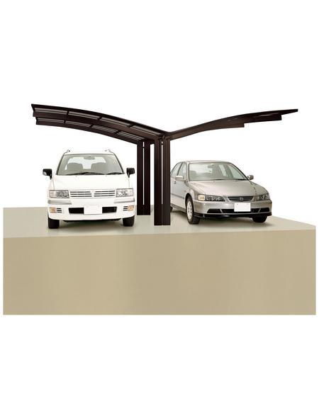 XIMAX Doppelcarport »Portoforte«, B x T x H: 543 x 495,4 x 298 cm, braun