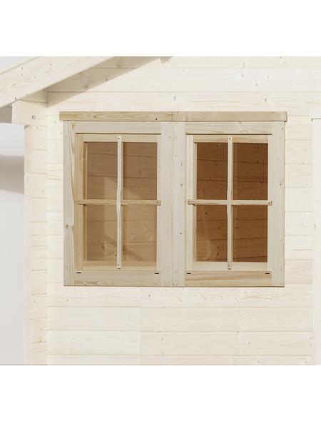 WEKA Doppelfenster für Gartenhäuser, Holz/Glas