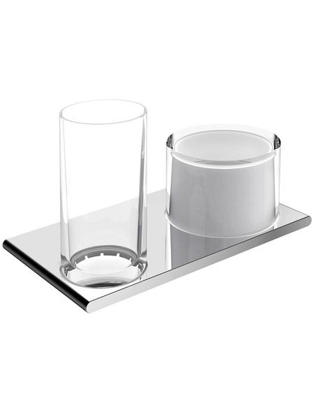 KEUCO Doppelglashalter, weiß/chromfarben