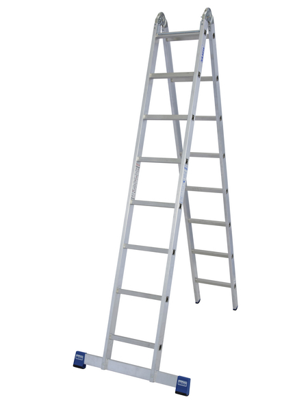 KRAUSE Doppelleiter »STABILO«, Anzahl Sprossen: 16, Aluminium