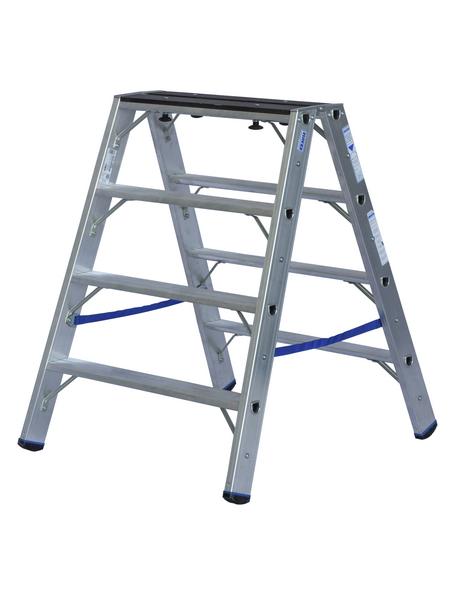 KRAUSE Doppelleiter »STABILO«, Anzahl Sprossen: 8, aluminium|holz
