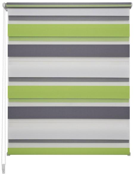 LIEDECO Doppelrollo »Mini Tricolor«, grün/grau/weiß, Polyester