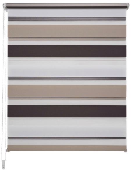 LIEDECO Doppelrollo, weiß/beige/braun, Polyester
