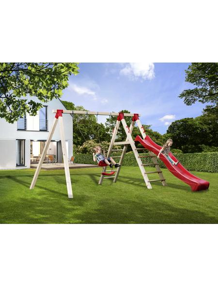 WEKA Doppelschaukel »Tabaluga«, Kunststoff/Holz, BxHxT: 385 x 240 x 290 cm