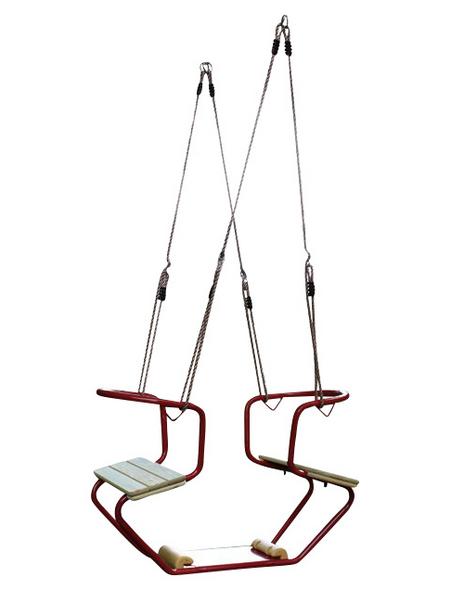 AKUBI doppelschaukelsitz, BxHxL: 59 x 45 x 86 cm, rot