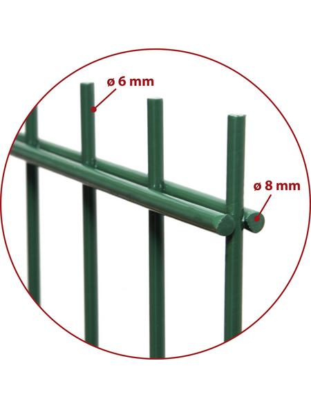 FLORAWORLD Doppelstabmatte, HxL: 123 x 251 cm, grün