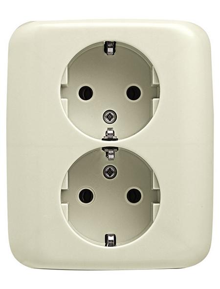 BUSCH-JAEGER Doppelsteckdose, Duro 2000® SI, 2-fach, 250 V, 16 A, Weiß
