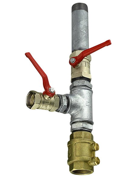 CORNAT Doppelter PumpenstockMessing silber/gold 22,5 x 42 cm