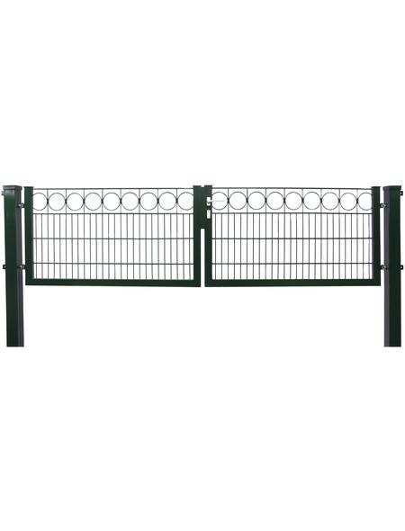 FLORAWORLD Doppeltor »Premiun«, Stahl, grün