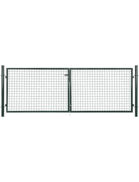 FLORAWORLD Doppeltor »Standard«, BxH: 312 x 150 cm, Stahl, grün