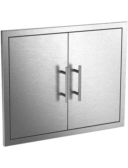 MR. GARDENER double door, BxHxT: 78,8 x 5 x 71 cm, EdelStahl