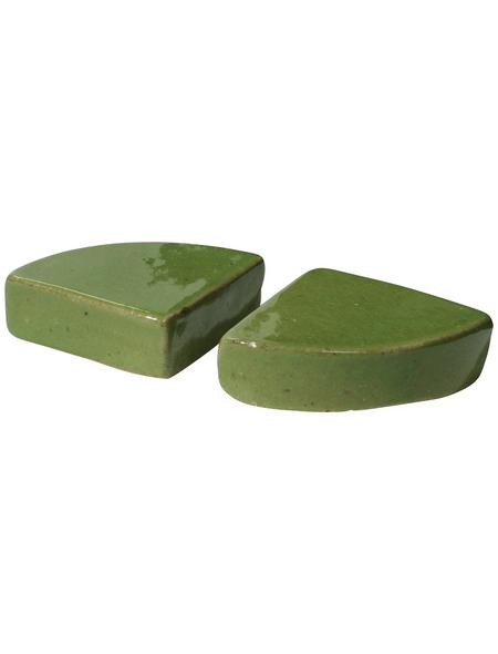 Kirschke Dreiecksfuß »TerraDura glasiert«, pistaziengrün, Feinsteinzeug, dreieckig