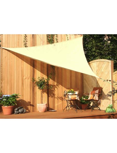 FLORACORD Dreiecksonnensegel, Breite: 500 cm