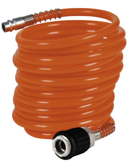 EINHELL Druckluftspiralschlauch orange Ø 6 x 4000 mm
