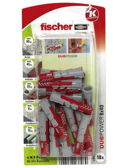 FISCHER Dübel, 18 Stück, 8 x 40 mm