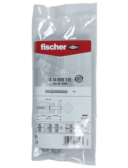 FISCHER Dübel, 4 Stück, 14 mm