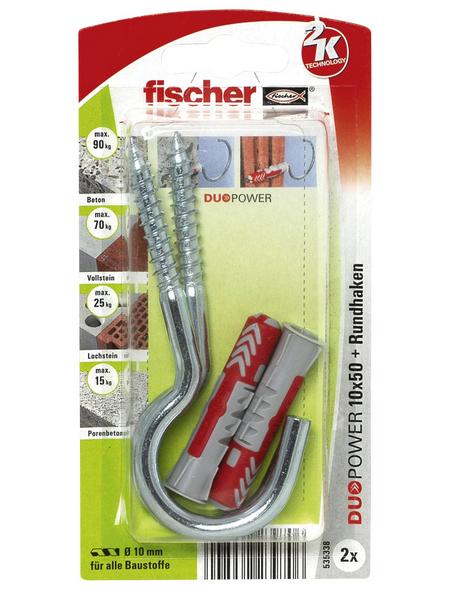 FISCHER Dübel, DUOPOWER, 2 Stück, 10 x 50 mm