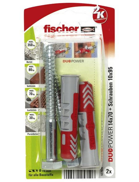 FISCHER Dübel, DUOPOWER, 2 Stück, 14 x 70 mm