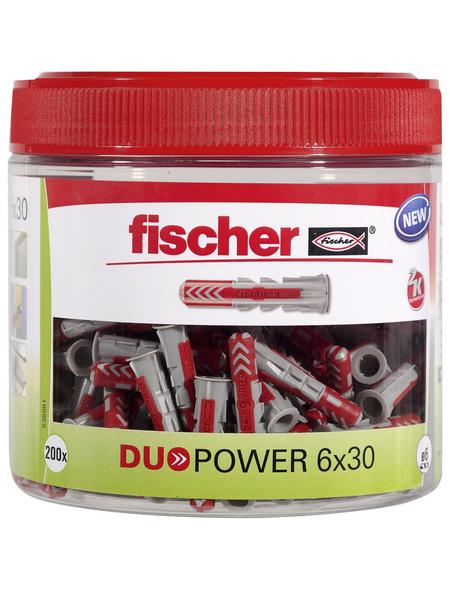 FISCHER Dübel, DUOPOWER, 202 Stück, 6 x 30 mm