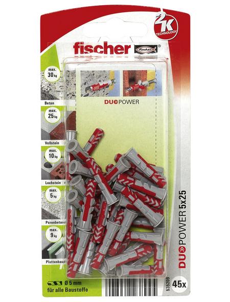FISCHER Dübel, DUOPOWER, 45 Stück, 5 x 25 mm