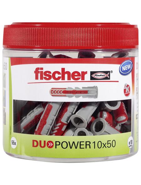 FISCHER Dübel, DUOPOWER, 55 Stück, 10 x 50 mm
