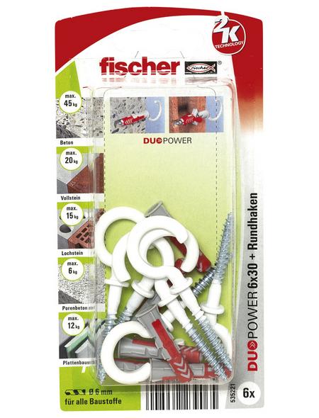 FISCHER Dübel, DUOPOWER, 6 Stück, 6 mm