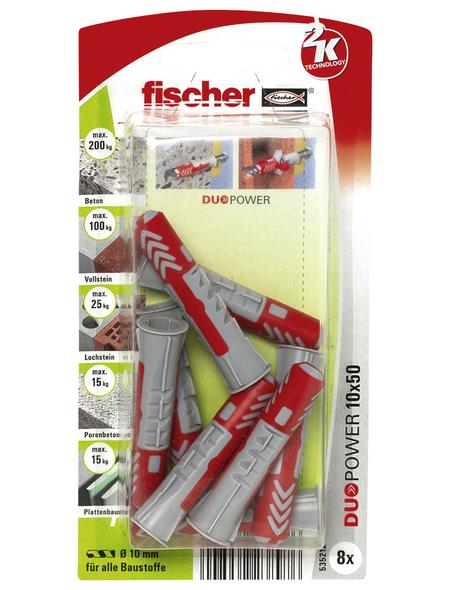 FISCHER Dübel, DUOPOWER, 8 Stück, 10 x 50 mm