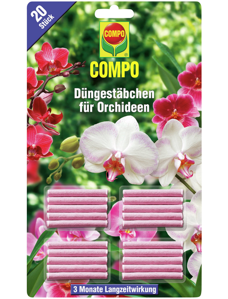 COMPO Dünger, 20 Stäbchen, schützt vor Mangelerscheinungen