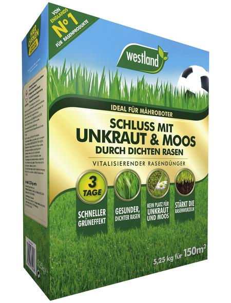 WESTLAND Dünger, 5,25 kg, für 150 m², schützt vor unkraut|moos
