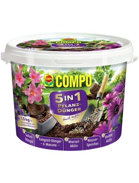 COMPO Dünger »5in1«, 1,5 kg, schützt vor Mangelerscheinungen