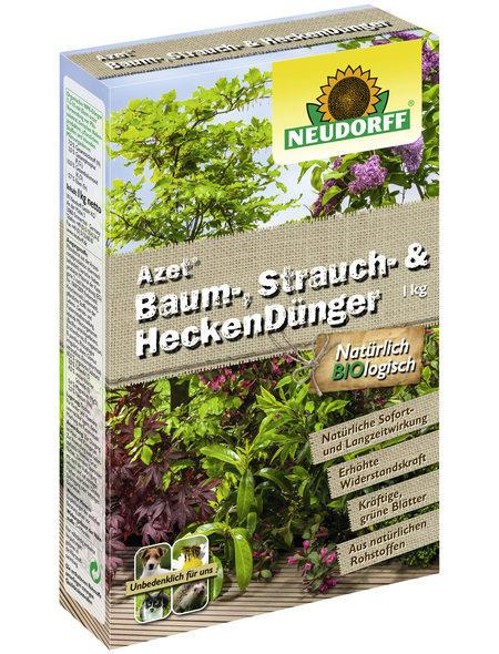 NEUDORFF Dünger »Azet Baum-, Strauch- und Heckendünger«, 1 kg, für 20 m²