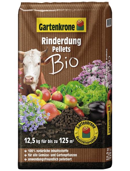 GARTENKRONE Dünger »BIO«, 12,5 kg, schützt vor Nährstoffmangel