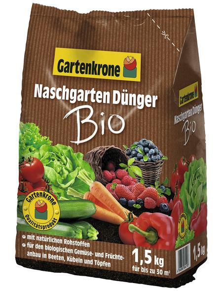 GARTENKRONE Dünger »Bio«, 1,5 kg, schützt vor Nährstoffmangel