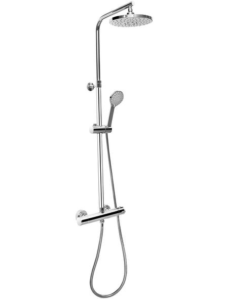 CORNAT Dusch-Komplettsystem »PERFECT NEO«, Höhe: 130 cm, verchromt/grau