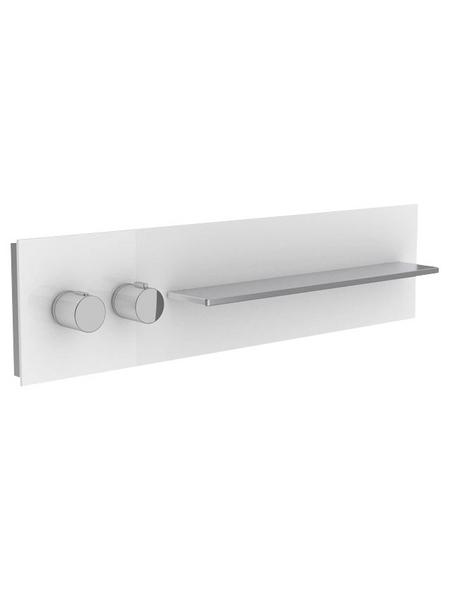 KEUCO Dusch- und Wannenbord »meTime_spa«, aluminiumfarben / weiss / klar