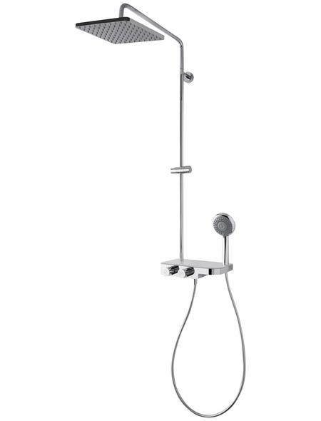 BREUER Duscharmatur »Aquamaxx 340«, Höhe: 110 cm, chromfarben