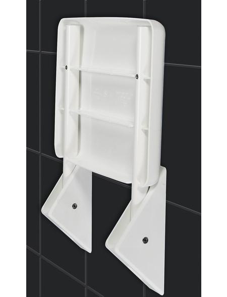 WENKO Duschklappsitz »Secura«, Aluminium | Acrylnitril-Butadien-Styrol (ABS)