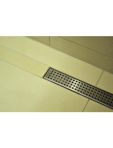 HOME DELUXE Duschrinne Quadrat, LxBxH: 150x7x10 cm